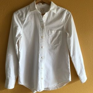 e066f04354a41c J. Crew Factory Tops - J. Crew Factory Oxford Shirt in Perfect Fit XXS